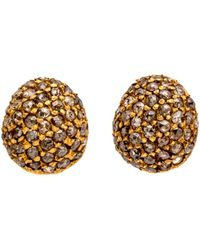 Yossi Harari - Roxanne Dark Diamond Stud Earrings - Lyst