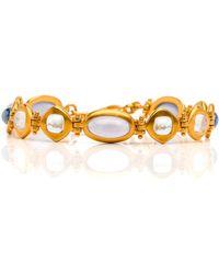 Darlene De Sedle - Cabochon Multi Stone Link Bracelet - Lyst