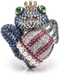 Wendy Yue | Blue Sapphire Frog Ring | Lyst
