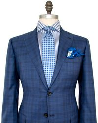 Kiton | Blue And Navy Plaid Suit | Lyst
