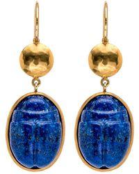 Darlene De Sedle - Lapis Scarab Earrings - Lyst