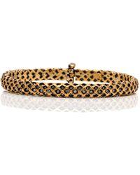 Yossi Harari - Gold And Diamond Rattan Hinged Bracelet - Lyst