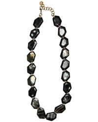 Nest - Faceted Black Horn Station Necklace - Lyst