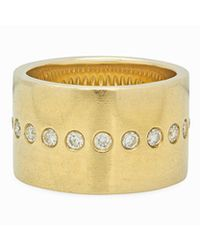 Nancy Newberg - Gold White Diamond Cigar Band - Lyst