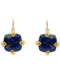 Devon Leigh | Square Lapis Drop Earrings | Lyst