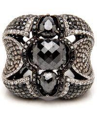 Wendy Yue - Black Diamond Ring - Lyst