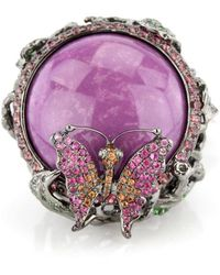 Wendy Yue - Phosphosiderite Ring With Sapphire Butterfly - Lyst