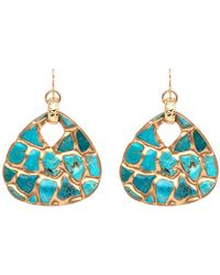 Devon Leigh - Copper Infused Turquoise Mosaic Earrings - Lyst