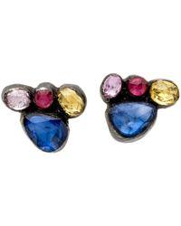 Yossi Harari - Sapphire Cascade Cluster Stud Earrings - Lyst