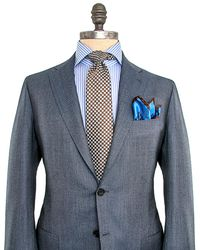 Kiton - Blue Grey Woven Suit - Lyst