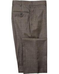 Belvest - Taupe Sharkskin Dress Pant - Lyst
