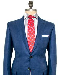 Kiton - Blue Melange Suit - Lyst