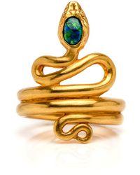 Darlene De Sedle - Black Opal Coiled Snake Ring - Lyst