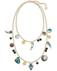 Nest - Pearl Charm Double Strand Necklace - Lyst
