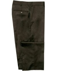 Belvest - Chocolate Flannel Dress Pant - Lyst