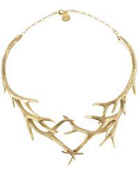 Nest | Gold Antler Collar Necklace | Lyst