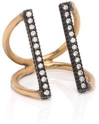Yossi Harari | Pave Diamond Lilah Bar Ring | Lyst