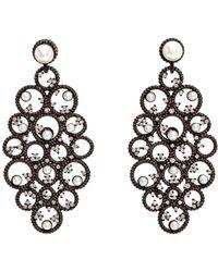 Nancy Newberg - Diamond And Pearl Chandelier Earrings - Lyst