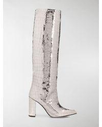 Paris Texas Nugnes 1920 Boots - Metallic