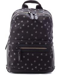 Lanvin Backpack Spiders Print- Nylon - Black