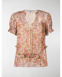 COACH - Floral Print Blouse - Lyst