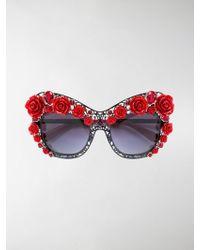 Dolce & Gabbana | Lace Bouquet Sunglasses | Lyst