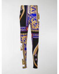 Versace - The Lovers Print Leggings - Lyst