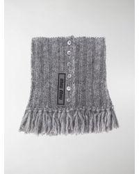 Miu Miu - Tassel Knitted Collar - Lyst