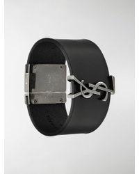 Saint Laurent - Logo Cuff Bracelet - Lyst