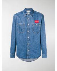 Calvin Klein - Denim Uniform Shirt - Lyst