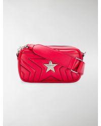 Lyst - Stella Mccartney Studded Faux Leather Shoulder Bag in Black 301d1b4071427