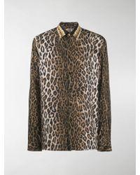 ea89e985850 Leopard-Print Shirts - Men's Leopard-Print Shirts - Lyst