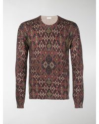 Etro - Patterned Knit Jumper - Lyst