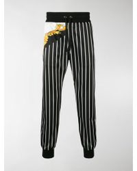 Versace - Striped Printed Track Trousers - Lyst