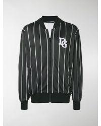 Dolce & Gabbana - Striped Bomber Jacket - Lyst