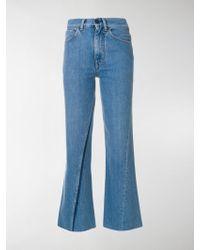 Ports 1961 - Cropped Boyfriend Jeans - Lyst