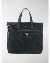 Prada - Nylon Shopper Briefcase - Lyst