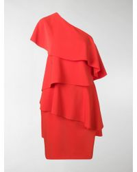 Lanvin - Asymmetric Ruffled Party Dress - Lyst