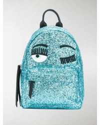 Chiara Ferragni - Wink Embroidered Glitter Backpack - Lyst