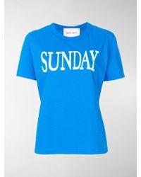 Alberta Ferretti - Sunday Print T-shirt - Lyst