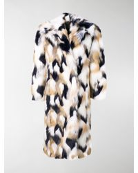 Givenchy - Faux Fur Oversized Coat - Lyst
