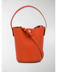 ac37b38736275a Gucci Swing Small Leather Tote - Lyst
