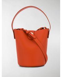 cbf24c8541f6 Gucci Swing Small Leather Tote in Pink - Lyst