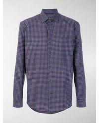 Ferragamo - Double Gancio Print Shirt - Lyst