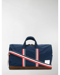Thom Browne - Unstructured Holdall In Nylon Tech And Suede - Lyst