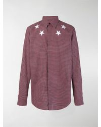 Givenchy - Chequered Star Printed Shirt - Lyst