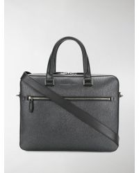 Ferragamo - Textured Laptop Bag - Lyst