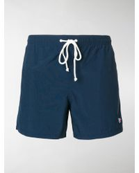 Maison Kitsuné - Embroidered Logo Swim Shorts - Lyst