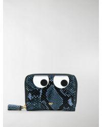 Anya Hindmarch Eyes Zip Around Wallet - Blue