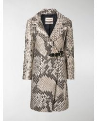 Roberto Cavalli - Double Breasted Coat - Lyst